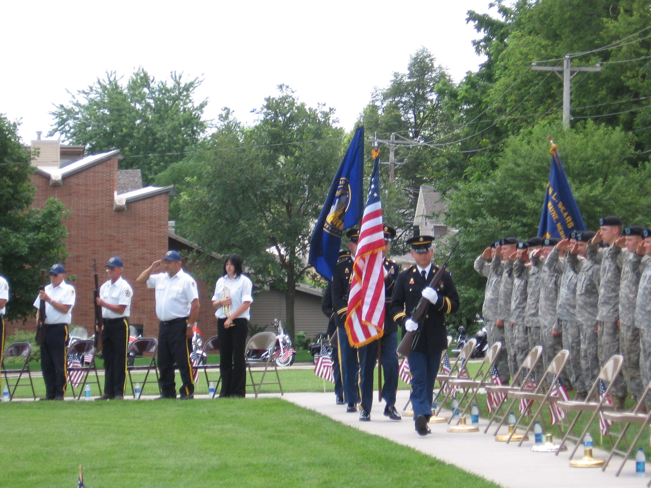 Presentation of Colors During the Dedication